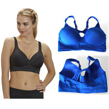 TWO PACK Sport Bras High Impact Racerback Wire Free Dry Cool Comfy S/M/L/XL