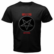 Motley Crue Pentagram Logo Metal Rock Band Men's Black T-Shirt