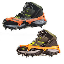 Anti-Slip Ice Walking Cleat Boot Grippers Snow Shoes Spike Grip Chain Crampons