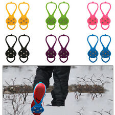 AntiSlip Snow Ice Shoes Spike Grip Strap Crampons Grippers Rock Fishing Climbing