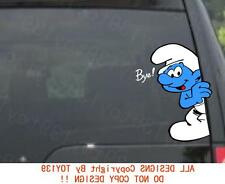 for/The Smurf/Smurfs Vinyl funny Car window Decal decals Sticker / reflective