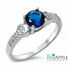 Solitaire Wedding Engagement Ring 925 Sterling Silver 0.84CT Sapphire Russian CZ