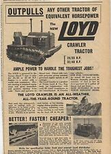 Loyd Crawler Tractor Advertisement removed from a 1950 Australian Newspaper