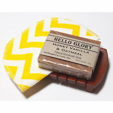 Natural Handmade Soap + Washcloth + Wooden Soap Rack Gift Set | Hello Glory