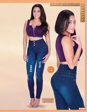 WOMEN'S DARK BLUE JEANS LAMASINI 2200 (LEVANTA COLA) BUTT LIFTING SIZE 3 TO 17