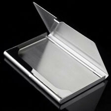 Fine Stainless Steel Pocket Name Credit ID Business Card Holder Box Metal Case O