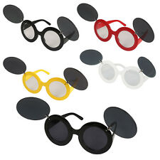 Vintage Lady Mickey Mouse Flip Up Paparazzi SUNGLASSES Glasses Shades Party Wear