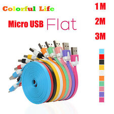1-3M Flat Micro USB 2.0 Data Sync Fast Charging Charge Cable For Samsung Android