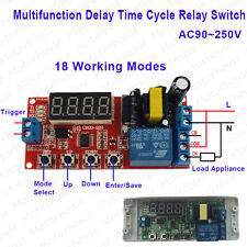 AC 110v 220v Multifunction Digital Cycle Timer Relay Module Delay Time Switch