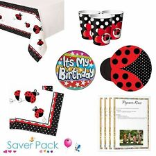 Ladybird Party Tableware Saver Pack