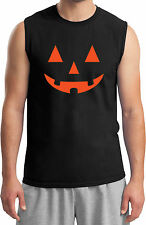 Mens Halloween Orange Jack O Lantern Shooter T-Shirt