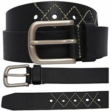 New Mens White Diamond Stitched Accessories Leather Belts S-3XL