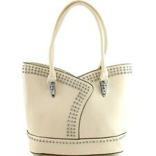 CONCEALED CARRY STUDDED RHINESTONE SHOULDER HANDBAG BLING FASHION TOTE PURSE