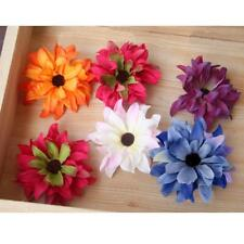 20x Artificial Silk Daisy Flower Heads Appliques Craft DIY Accessories Decor