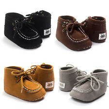 Newborn Baby Crib Bandage Lace Shoes Toddler Girls Boys Non-slip Sneakers Boots