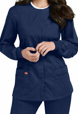 Dickies Medical Scrub Navy EDS Signature Snap Front Jacket Sz XS-XXL NWT