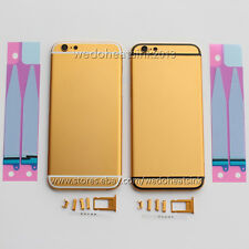 Matte Gold Metal Replace Back Housing Rear Battery Cover For iPhone 6 6S Plus