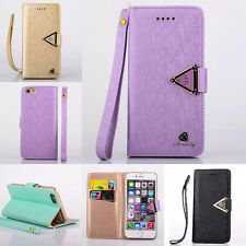 Cute Luxury Back Protecter Stand Wallet Leather Card Cover Skin For iPhone Case