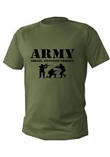 T shirt Mens dry fit short sleeve green olive israel defense forces army Soldier
