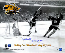 Steiner Bobby Orr Flying Goal 16x20 Photo w/ May 10 1970 Insc. (Orr Auth)