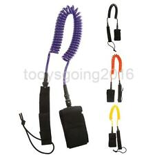 10ft Surfing Surfboard Coiled Leash Leg Rope Cord & Neoprene Padded Ankle Cuff