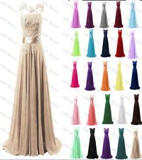Long Chiffon Prom Gown Evening Formal Party Cocktail Prom Dress Stock size 6-22