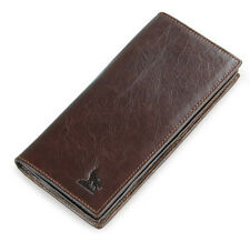 Vintage Men's Genuine Leather Bifold Long Wallet Money Clutch Purse Card Holder