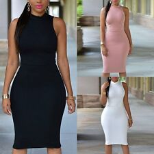 Charming Womens Sleeveless Bodycon Bandage Sexy Dress Lady Party  Cocktail Skirt