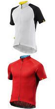 NEW Mavic Espoir Short Sleeve Jersey Men's Cycling 4 Pockets Full Zip - 2 Colors