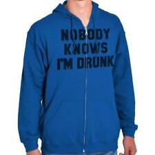 Nobody Knows I'm Drunk Drinking Beer Wine Hangover Gift Ideas Zipper Hoodie