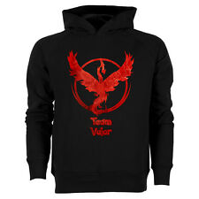 Hoodie enfant TEAM VALOR - Pokemon Go - Pokeball - sweat à capuche coton bio