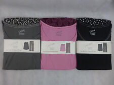 Womens Pajamas Jaclyn Smith Fleece & Knit Long Sleeve Black Pink or Gray New