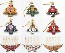 Retro Cloisonne Christmas tree Charms Pendants Cloisonne Christmas decoration