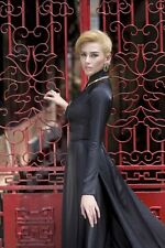 Black AO DAI Vietnam and Skirt, Custom made follow you size, Affordable Price
