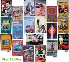 Vintage Hanging Tin Signs Metal Painting Bar Home Garage Wall Decorated Poster