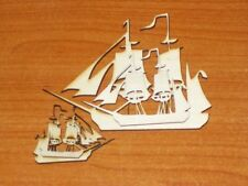 5X SAILBOAT SHAPES - laser cut, DIY, blank unpainted, 3mm thick plywood wood mdf