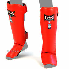 TWINS SPECIAL SGL-3 RED SLIM PADDED SHINGUARDS SIZE M TWINS UK 15% SALE