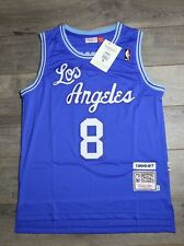Kobe Bryant #8 Los Angeles Lakers Jersey Blue Throwback Vintage Retro Classic