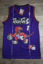 Tracy McGrady #1 Toronto Raptors Purple Jersey Throwback Vintage Classic Stripe