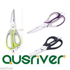 New Stainless Steel Kitchen Shears Poultry Scissors Fish Pizza Bottle Cap Opener
