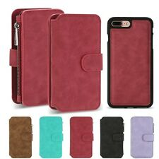 Flip Wallet Case PU Leather Magnetic Card Slot Stand Cover for iPhone 7 Plus
