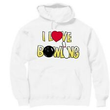 Pullover Hooded Sports Sweatshirt I Love Bowling Bowler
