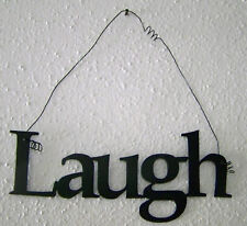 """LAUGH """"Words to Live By"""" Wall Art Hanging Metal Sign"""