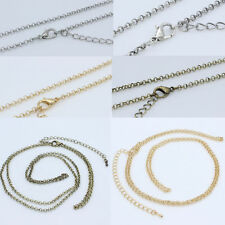 "Wholesale Lots 5pcs 2.5mm Curb Trace ""O"" Link Chain Necklace 18""-30"" Jewelry DIY"