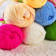 1 Skein Hand Knitting Soft Cashmere Wool Silk Protein Cotton Yarn 15 Colors 50g