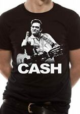 Officially Licensed JOHNNY CASH - FINGER Music T-Shirt S-XXL