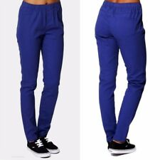 Womens Ladies Smart Blue Treggings Plus Size Elasticated Smart Trousers