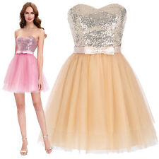 Short Mini Sequined Tulle Ball Gown Cocktail Evening Prom Party Homecoming Dress