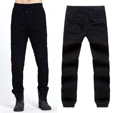 New Mens Designed Straight Slim Denim Jeans Runway Trousers Casual Skinny Pants