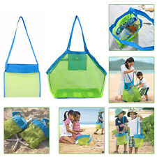 New Portable  Sand Object Collect Toys Mesh Bag Tote Beach Storage Shell Net Bag